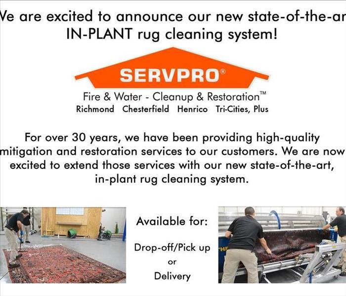 SERVPRO of Tri-Cities' New Rug Cleaning System!